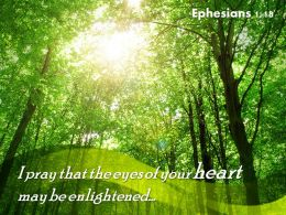 Ephesians 1 18 I pray that the eyes PowerPoint Church Sermon