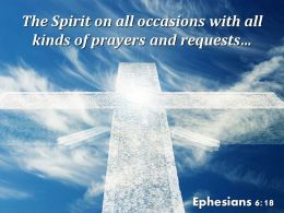 Ephesians 6 18 The Spirit On All Occasions Powerpoint Church Sermon