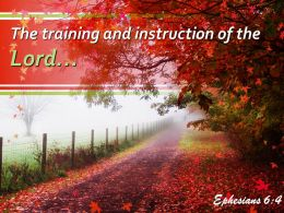 Ephesians 6 4 The training and instruction PowerPoint Church Sermon