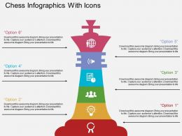 Eq Chess Infographics With Icons Flat Powerpoint Design
