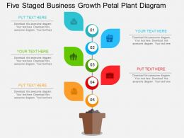 eq Five Staged Business Growth Petal Plant Diagram Flat Powerpoint Design