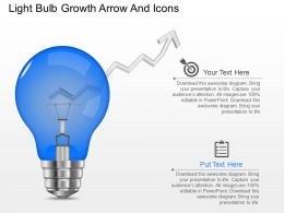 eq Light Bulb Growth Arrow And Icons Powerpoint Template