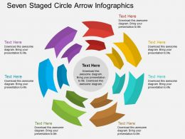 eq Seven Staged Circle Arrow Infographics Flat Powerpoint Design