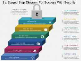 Eq Six Staged Step Diagram For Success With Security Flat Powerpoint Design