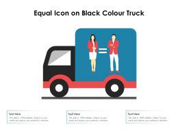 Equal Icon On Black Colour Truck