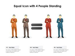 Equal Icon With 4 People Standing