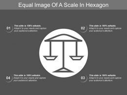 Equal Image Of A Scale In Hexagon