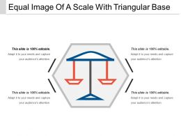 Equal Image Of A Scale With Triangular Base