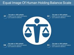 Equal Image Of Human Holding Balance Scale
