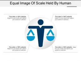 Equal Image Of Scale Held By Human
