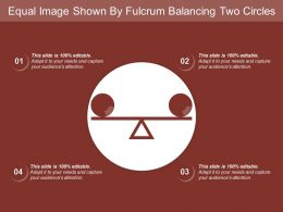 Equal Image Shown By Fulcrum Balancing Two Circles