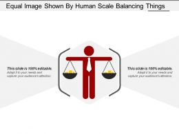 Equal Image Shown By Human Scale Balancing Things
