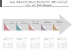 Equal Opportunity Sound Management Of Resources Powerpoint Slide Designs