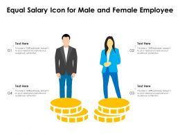Equal Salary Icon For Male And Female Employee