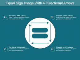 Equal Sign Image With 4 Directional Arrows