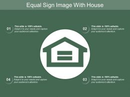 Equal Sign Image With House