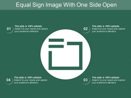 Equal Sign Image With One Side Open