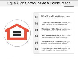 Equal Sign Shown Inside A House Image