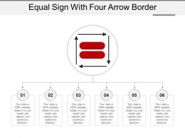 Equal Sign With Four Arrow Border