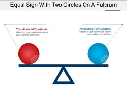 Equal Sign With Two Circles On A Fulcrum