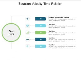 Equation Velocity Time Relation Ppt Powerpoint Presentation Portfolio Icon Cpb