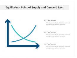 Equilibrium Point Of Supply And Demand Icon