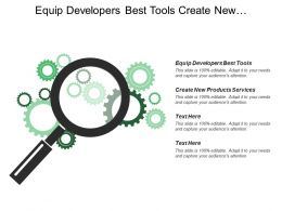 Equip Developers Best Tools Create New Products Services Strengthens Opportunities