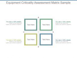 Equipment Criticality Assessment Matrix Sample Powerpoint Slides Design