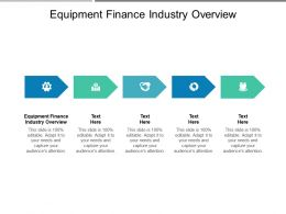 Equipment Finance Industry Overview Ppt Powerpoint Presentation File Design Ideas Cpb