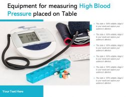 Equipment For Measuring High Blood Pressure Placed On Table