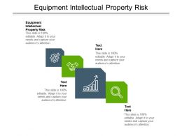 Equipment Intellectual Property Risk Ppt Powerpoint Presentation File Demonstration Cpb
