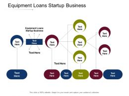 Equipment Loans Startup Business Ppt Powerpoint Presentation Show Slideshow Cpb