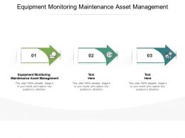 Equipment Monitoring Maintenance Asset Management Ppt Powerpoint Presentation Model Show Cpb
