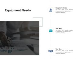 Equipment Needs Ppt Powerpoint Presentation Professional Inspiration Cpb