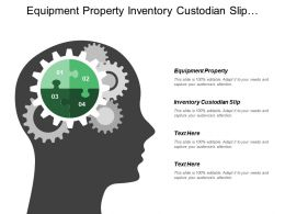 Equipment Property Inventory Custodian Slip Aggregation Increasing Collaboration