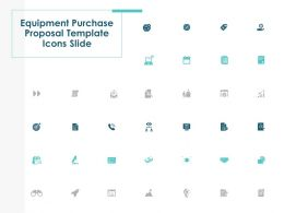 Equipment Purchase Proposal Template Icons Slide L1245 Ppt Grid