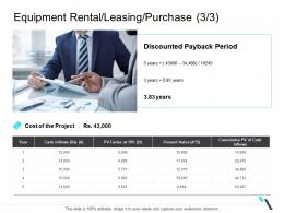 Equipment Rental Leasing Purchase Cumulative Business Operations Management Ppt Inspiration