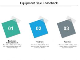 Equipment Sale Leaseback Ppt Powerpoint Presentation Gallery Graphics Download Cpb