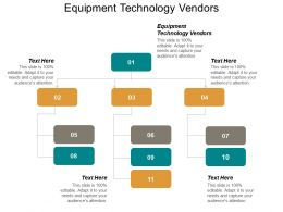 Equipment Technology Vendors Ppt Powerpoint Presentation Outline Examples Cpb