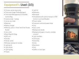 Equipments Used Extension Ppt Powerpoint Presentation Summary