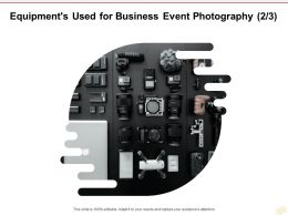 Equipments Used For Business Event Photography Management Ppt Powerpoint Presentation Pictures