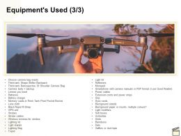 Equipments Used Management Ppt Powerpoint Presentation Layouts Templates