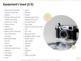 Equipments Used Management Ppt Powerpoint Presentation Portfolio