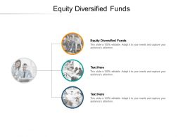 Equity Diversified Funds Ppt Powerpoint Presentation Gallery Layout Cpb