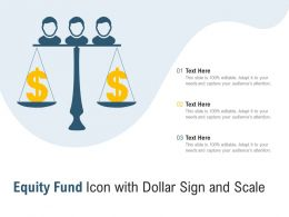 Equity Fund Icon With Dollar Sign And Scale