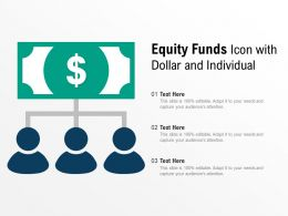 Equity Funds Icon With Dollar And Individual