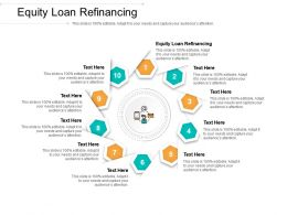 Equity Loan Refinancing Ppt Powerpoint Presentation Gallery Example File Cpb