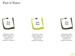 Equity Pool Funding Pitch Deck Post It Notes Audiences Attention Ppt Powerpoint Inspiration