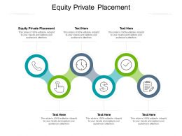 Equity Private Placement Ppt Powerpoint Presentation Show Tips Cpb