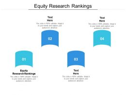 Equity Research Rankings Ppt Powerpoint Presentation Clipart Cpb